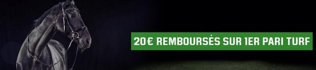 20 euros de bonus turf sur Unibet