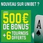 Inscrivez-vous sur Unibet Poker