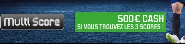 Le Multi Score sur le foot avec Unibet