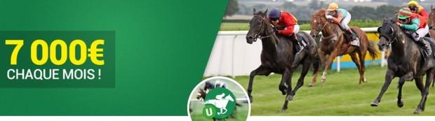 7.000€ en jeu chaque mois avec les Turf Races d'Unibet
