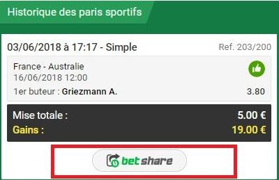 paris betshare gains unibet